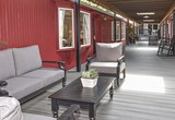 Common Sitting area on Deck between the Railcars